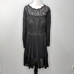 Light in the Box Dresses - Light in the Box lace accordion pleated dress NWT
